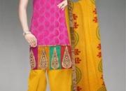 Buy Chanderi Sico Salwar Kameez Online