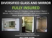 Sliding glass door repair, tracks & rollers replacement broward, davie, margate, miami