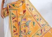 Online shopping for pure batik cotton saris by unnatisilks