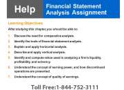 Financial Statement Analysis Assignment Help -USAassignment